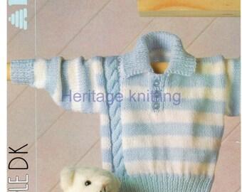 baby boys sweater dk knitting pattern
