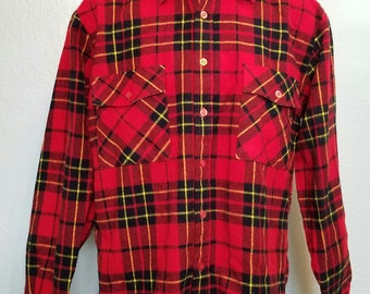 1980s flannel shirt