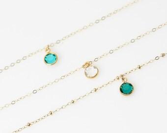 Gold Anklets, 14k gold Anklet, Ankle Bracelet, Delicate Anklet, Anklet Bracelet, Birthstone Anklet, Silver Birthstone Anklet, Foot Jewelry.