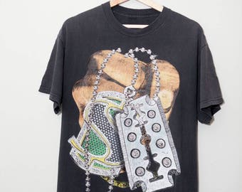 Vintage 1990's Hip Hop Money Bling Hand Shirt | SIZE LARGE
