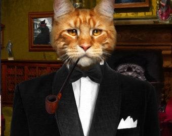 CAT PORTRAIT –CAT Print, Cat Portrait Custom, Pet Portraits, Custom Pet Portraits, Cat Art, Pet Portraits From Photo, Custom Cat Portraits