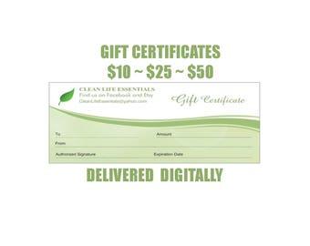 Clean Life Essentials Gift Certificate