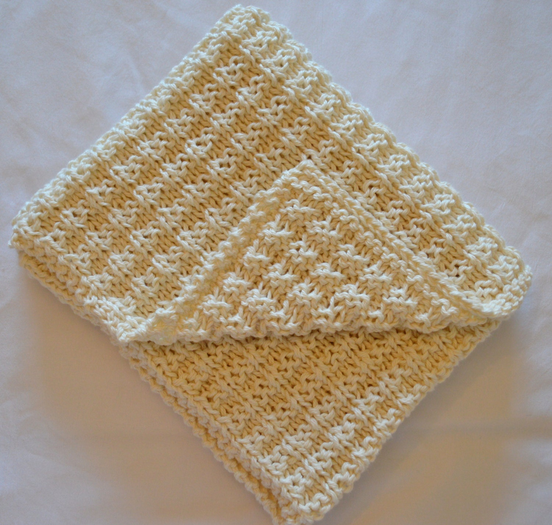 Simple Waffle Baby Blanket Pattern Knitting pattern