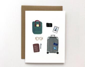 Adventure Begins - Bon Voyage Card