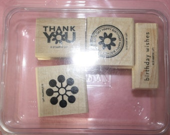 Stampin Up Rubber Stamps Set of 4