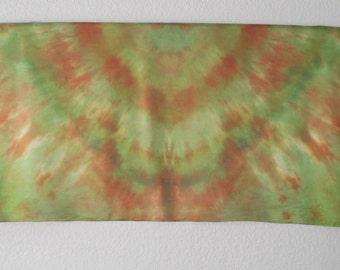 Silk Veil for Bellydance  3 Yards  Silk Evening Wrap Silk Sarong- Earth Tones