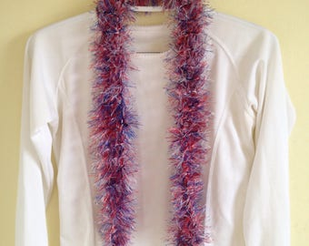 Flag Day Parade Scarf Independence Day Celebration Fourth of July Red White and Blue Boa Ready to Ship Patriotic Scarf