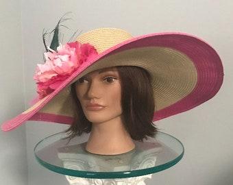 "Kentucky Derby Hut ""Rosa bis zum Rand"""