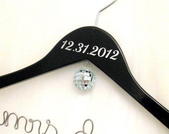 New Years Eve Wedding Custom Personalized Bridal Hanger