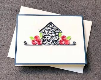 Housewarming Card Handmade Quilling, House Anniversary Card; Thank you Card