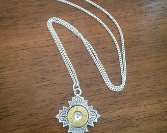 Winchester 45 Auto Bullet Brass Necklace