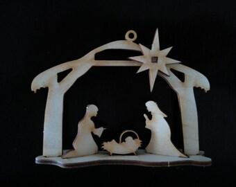 3-D Ornaments - Nativity