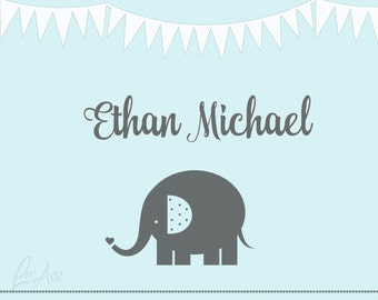 Ethan Name Digital Print Baby Shower Gift Custom