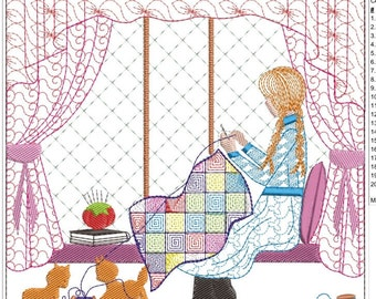 ANNE OF GREEN gables quilting machine emboidery download 3 diff sizes (5x5  6x6 7x7)