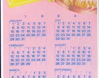 Tower Records KFM94 Chico Original Poster Calendar 1984 by Frank Carson