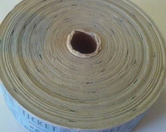 Vintage Roll of Blue Tickets Ticket Keep This Coupon