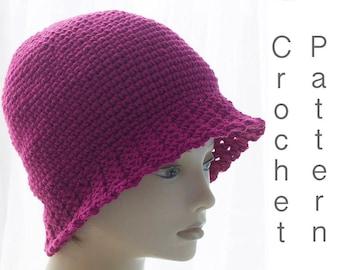 Winter Bucket Hat Pattern, Flapper Hat Crochet Pattern, Pdf Crochet Hat Pattern, Digital Download