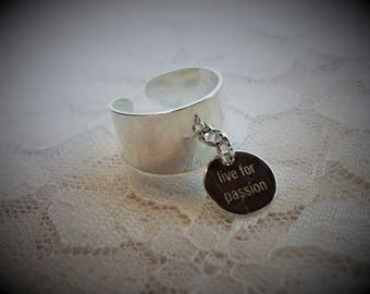 Large Silver pendant ring
