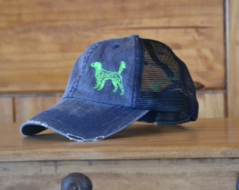 English Setter - Distressed Navy Cap