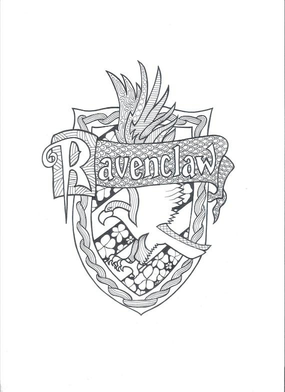 Harry Potter Ravenclaw PDF Coloring