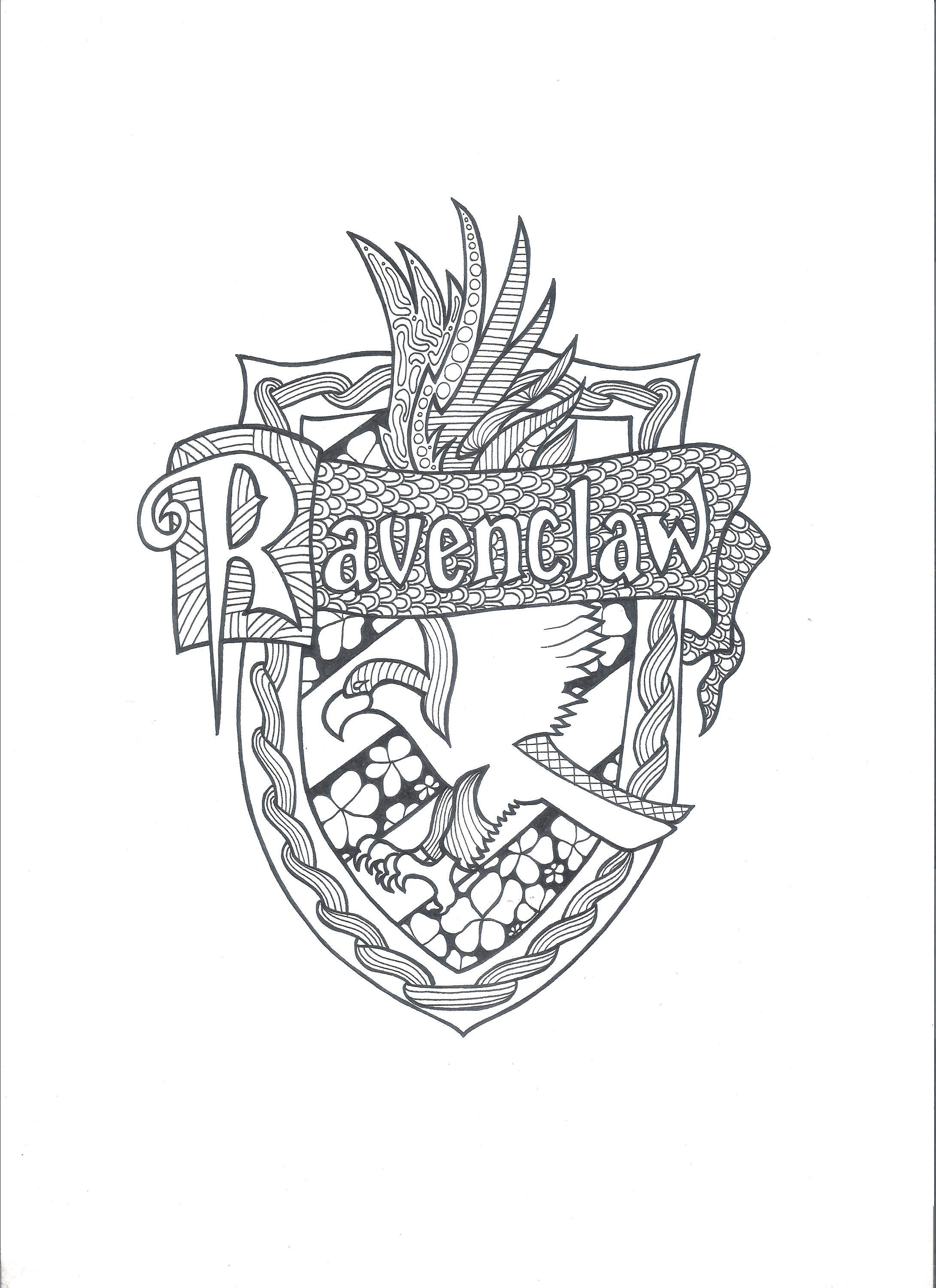 coloring pages crests harry potter - photo#19