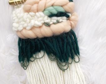 Micro weaving/mini weaving/woven wall hanging/small wall hanging/wall hanging woven/weaving wall hanging/small tapesty/fiberart wall hanging