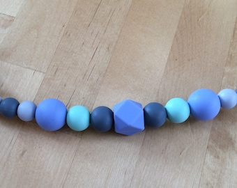 Mint to be Blue Pacifier Clip