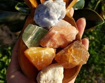 Large Calcite Set - 6 Piece - Vibrant Colors