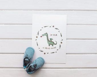 Birthday card dragon, happy birthday boy, girl, boy, dragon illustration