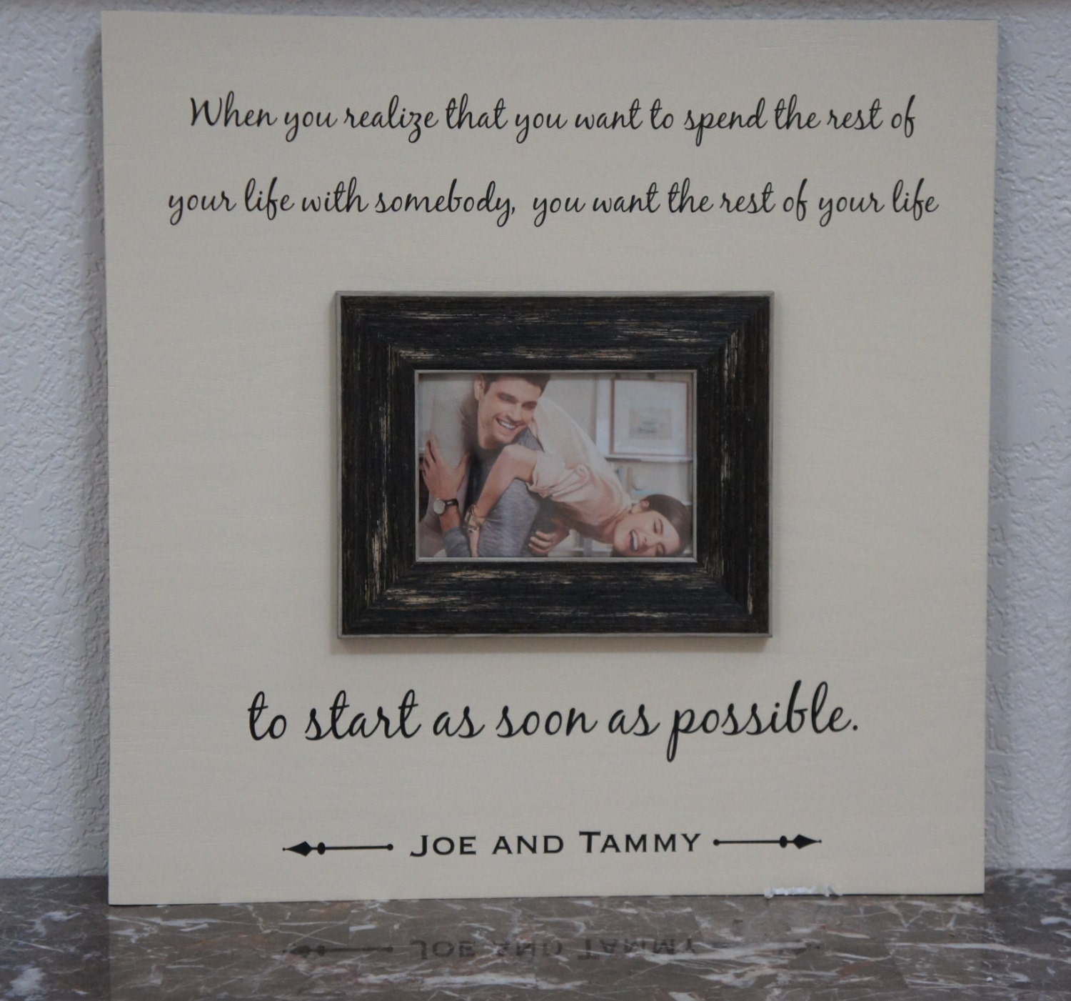 Love Quote Picture Frames Extraordinary Wedding Frame Love Quote Spending Your Life Personalized