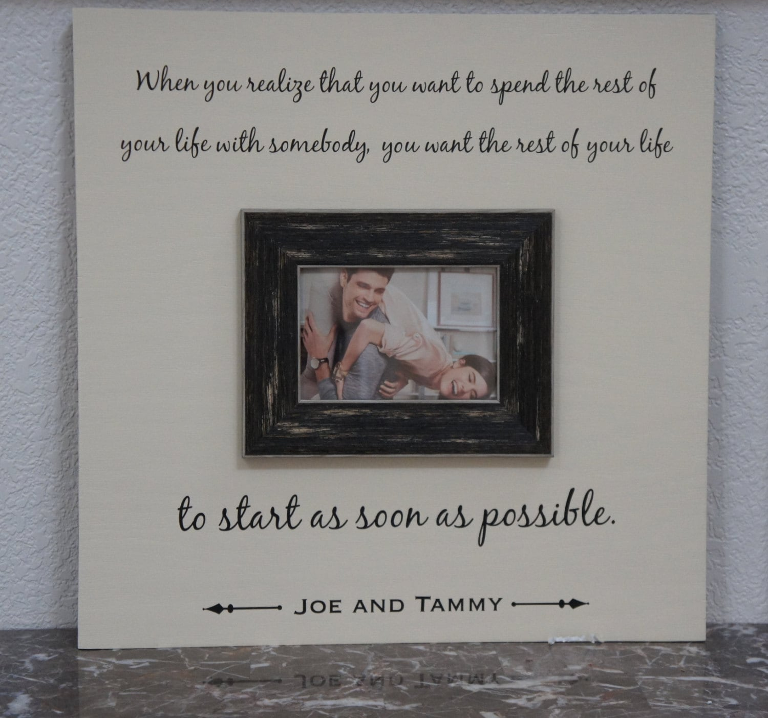Love Quote Picture Frames Wedding Frame Love Quote Spending Your Life Personalized
