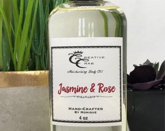 Jasmine & Rose Body oil, Hair Oil