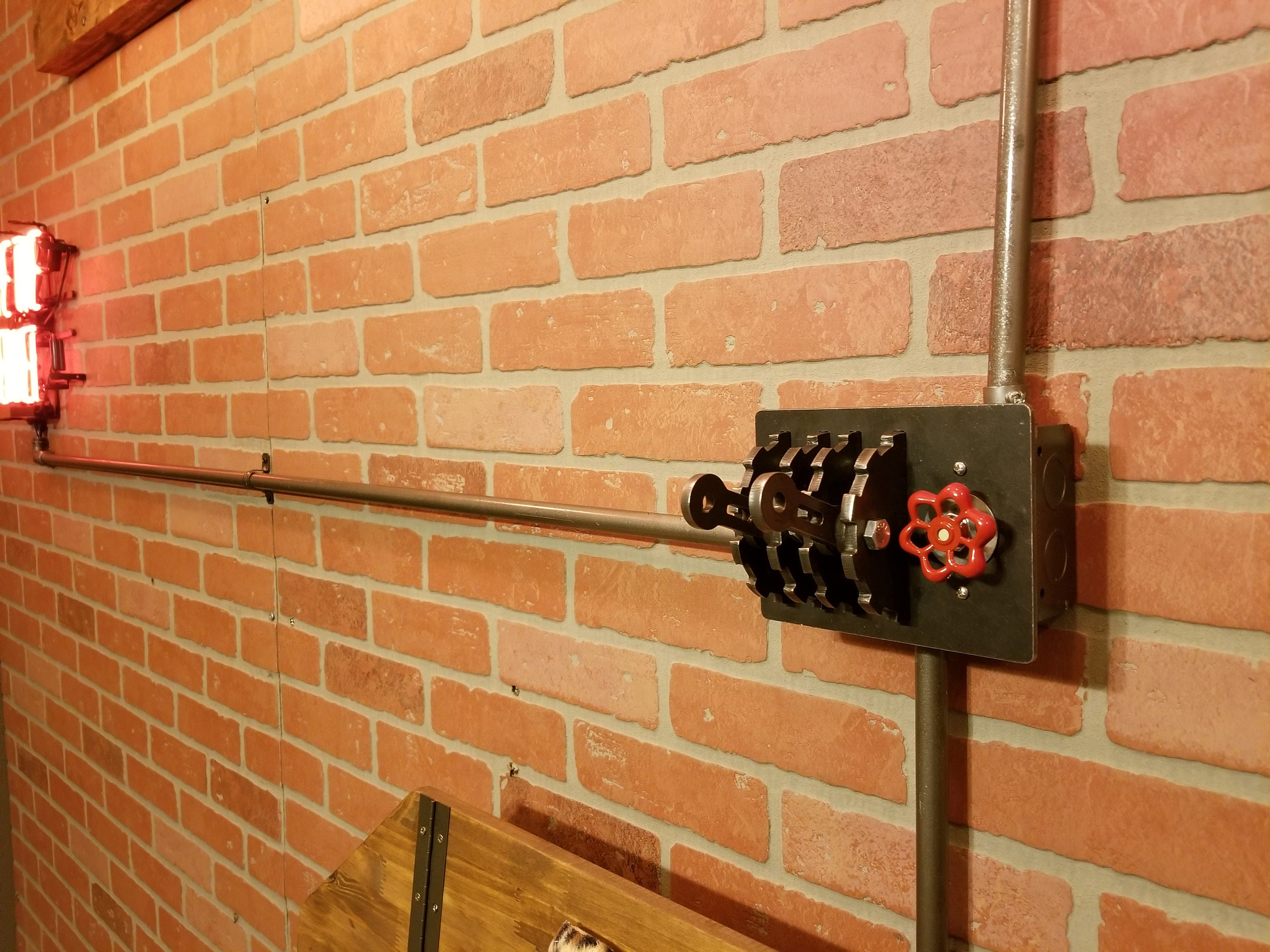Industrial Triple-Gang Light Switch Cover with Dimmer Sillcock
