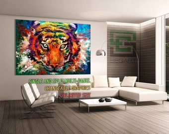 Tiger multi panel art Print Wall Decoration Canvas Art Canvas Alternative Art Split art Canvas Print Large Print Home Wall Decor Wall Art