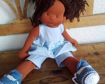 "Waldorf doll,  organic , 16"" tall doll, fabric doll, cloth doll, handmade, gift for her"