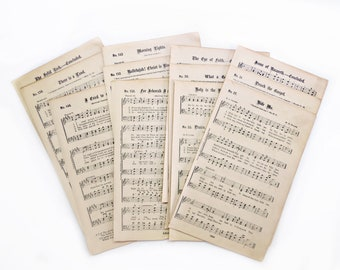 Antique Religious Hymn Music Pages