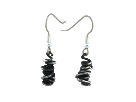 Chaos Small Drop Titanium Earrings, 100% Hypoallergenic, Sensitive ear