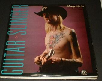 JOHNNY WINTER Guitar Slinger Record Album Alligator AL 4735 1984