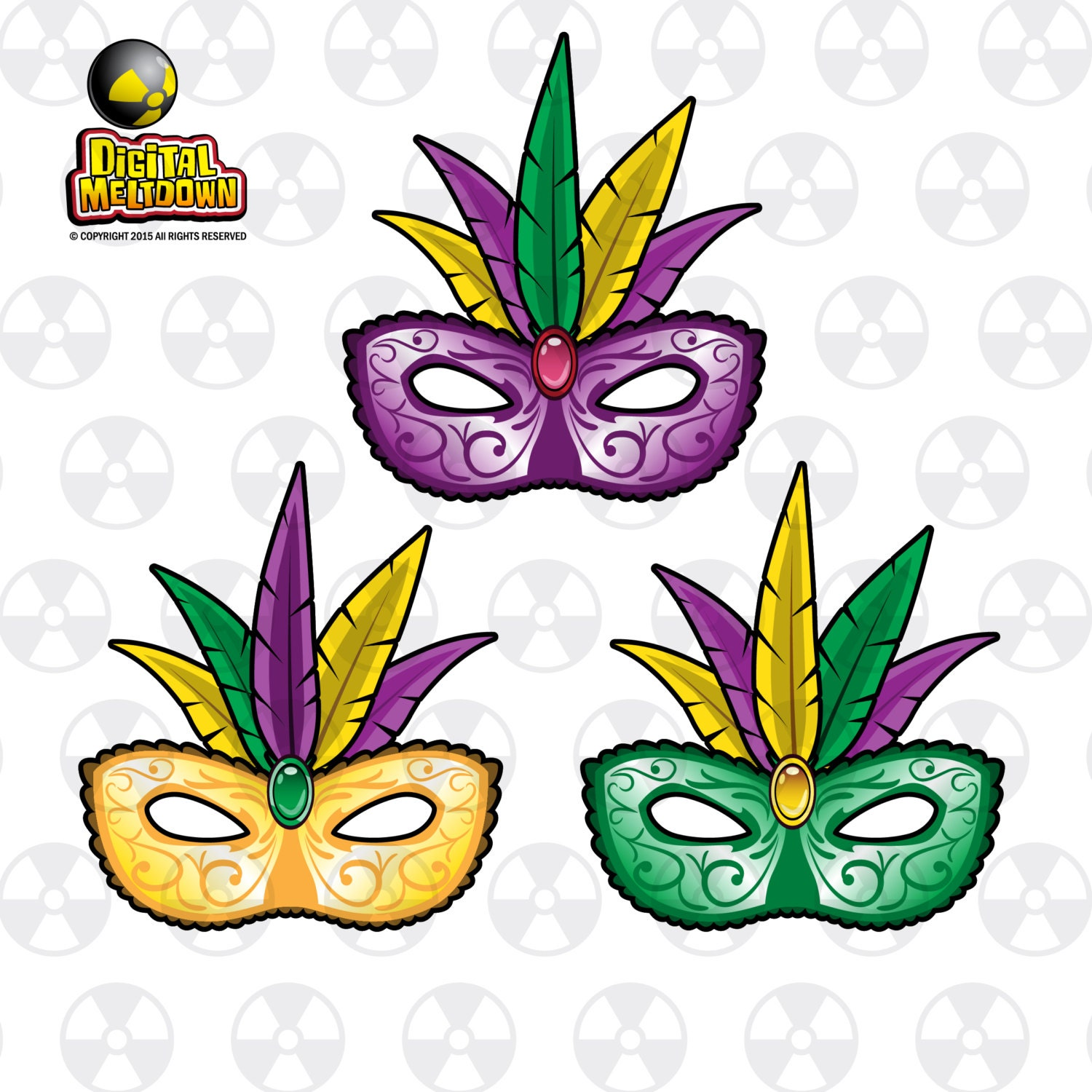 new orleans louisiana vector clipart mardi gras style mask rh etsy com new orleans clip art pictures new orleans jazz clip art
