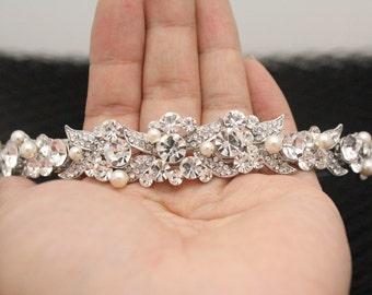 Wedding headband Pearl Bridal headband vintage Wedding Tiaras pearl Bridal Tiaras vintage Wedding hair jewelry Brideeal hair accessory pearl