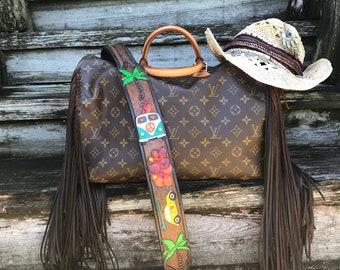 Vintage Swag Fringed Louis Vuitton Beach Bum Bag