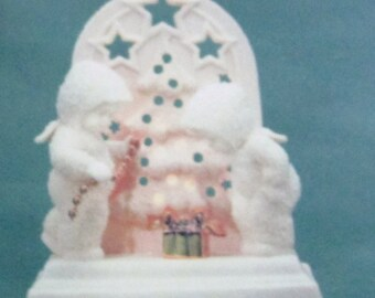 DEPARTMENT 56 SNOWBABIES We'll Light The Tree Pierced Votive New In Box