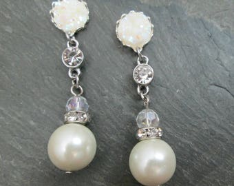 Wedding Plugs - 10g - 8g - 6g - 4g - 2g - 0g - Bridal Gauges - Rhinestone Plugs - Plug Earrings  -Pearl Plugs - Rhinestone and Pearl