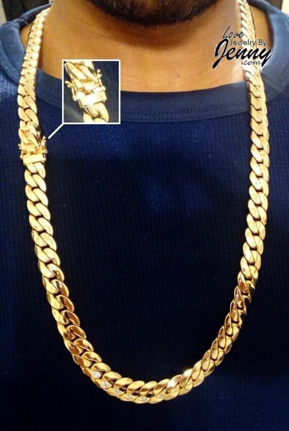 Miami Cuban Link Style Curb Chain 180 Grams 12mm Curb