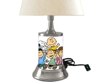 Peanuts Comic Strip Lamp with shade, Charlie Brown, Snoopy
