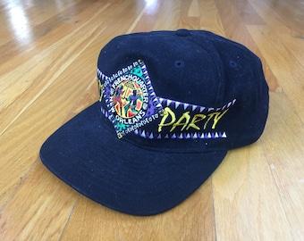 Vintage World Party New Orleans hat snapback black nola bourbon street french quarter mardi gras cross colours louisiana