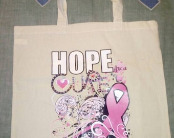Hope for a Cure Cotton Tote Bag