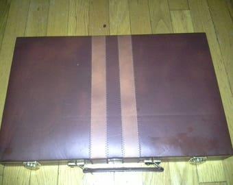 """Interpur 1970s NEW Unopened Backgammon game  18"""" x 12"""""""