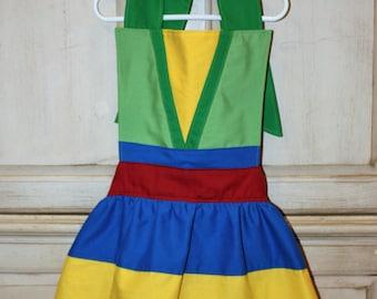 Mulan Inspired Girls Dress Up Apron