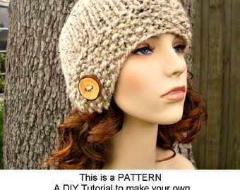 Instant Download Knitting Pattern - Womens Hat Pattern - Knit Hat Pattern Chunky Cloche Hat - Womens Cloche Pattern - Womens Accessories